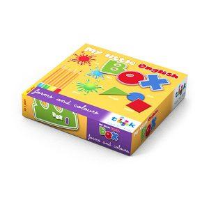 Sprachlernspiel. Sprachbox forms and colours. Zum Englisch Lernen für Kinder