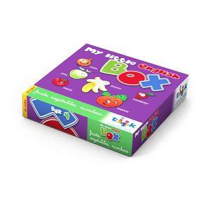Sprachlernspiel, Sprachbox fruits, vegetables, numbers. Zum Englisch Lernen für Kinder