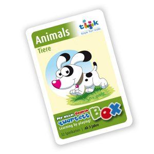 Sprachlernspiel. Quartett - animals. Zum Englisch Lernen für Kinder