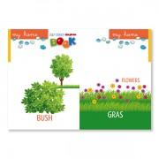 Sprachlernspiel. Sprachbox - my home. Buchinnenseite ist Bestandteil der Sprachbox. Zum Englisch Lernen für Kinder.