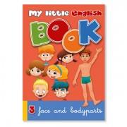 Lesebuch zur Sprachbox face and body parts. Das Lesebuch ist Bestandteil des Sprachspiels my little English box face and body parts, Sprachspiele für Englisch aus Augsburg