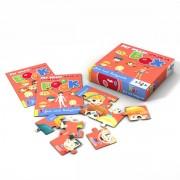 Sprachspiel Sprachbox zum Thema face and bodyparts. Zum Englisch Lernen für Kinder, Sprachspiele für Englisch aus Augsburg