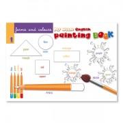 Sprachlernspiel. Sprachbox - forms and colours. Malbuchinnenseite ist Bestandteil der Sprachbox. Zum Englisch Lernen für Kinder.