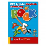 Malbuch zur Sprachbox clothes. Das Malbuch ist Bestandteil des Sprachspiels my little English box clothes, Sprachspiele für Englisch aus Augsburg