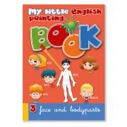 Malbuch zur Sprachbox face and body parts. Das Malbuch ist Bestandteil des Sprachspiels my little English box face and body parts, Sprachspiele für Englisch aus Augsburg