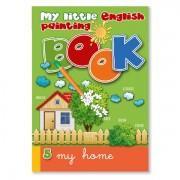 Malbuch zur Sprachbox my home. Das Malbuch ist Bestandteil des Sprachspiels my little English box my home, Sprachspiele für Englisch aus Augsburg