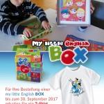 T-Shirt als Geschenk, geschenkt bei Bestellung, happy Englisch für Kinder, English for kids
