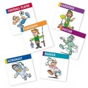 Englisch für Kinder,Sprachspiel memo box professions. Diese Karten sind Bestandteil des Spiels my little English memo box professions. Zum Englisch Lernen für Kinder. Sprachspiele für Englisch aus Augsburg