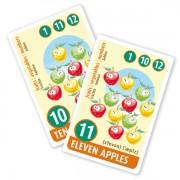 Englisch für Kinder, Sprachspiel. Quartett - fruits, vegetables, numbers. Diese Karten sind Bestandteil des Sprachlernspiels. Sprachspiele für Englisch aus Augsburg