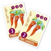 Englisch für Kinder, Sprachlernspiel. Quartett - fruits, vegetables, numbers. Diese Karten sind Bestandteil des Sprachlernspiels. Sprachspiele für Englisch aus Augsburg