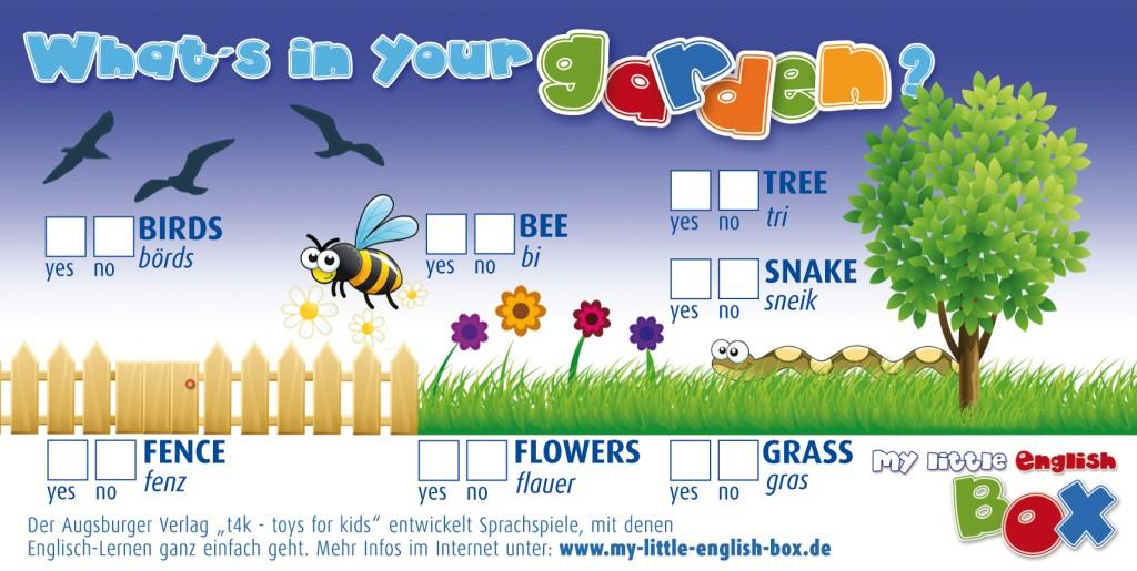 Englisch für Kinder, spielerisch lernen, Sprachlernspiele für Kindergartenkinder