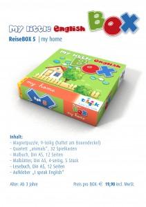 Englisch für Kinder, Reisebox my little English box - my home, Sprachspiele für Englisch aus Augsburg