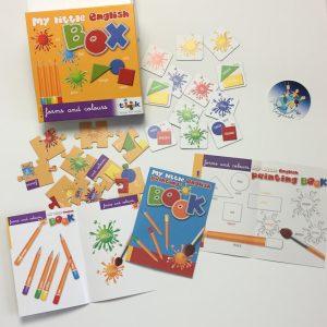 Spiele für Kinder, Englisch für Kinder, Reisebox
