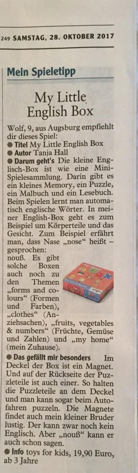 Capito Spieletipp, my little English Box, Englisch für Kinder