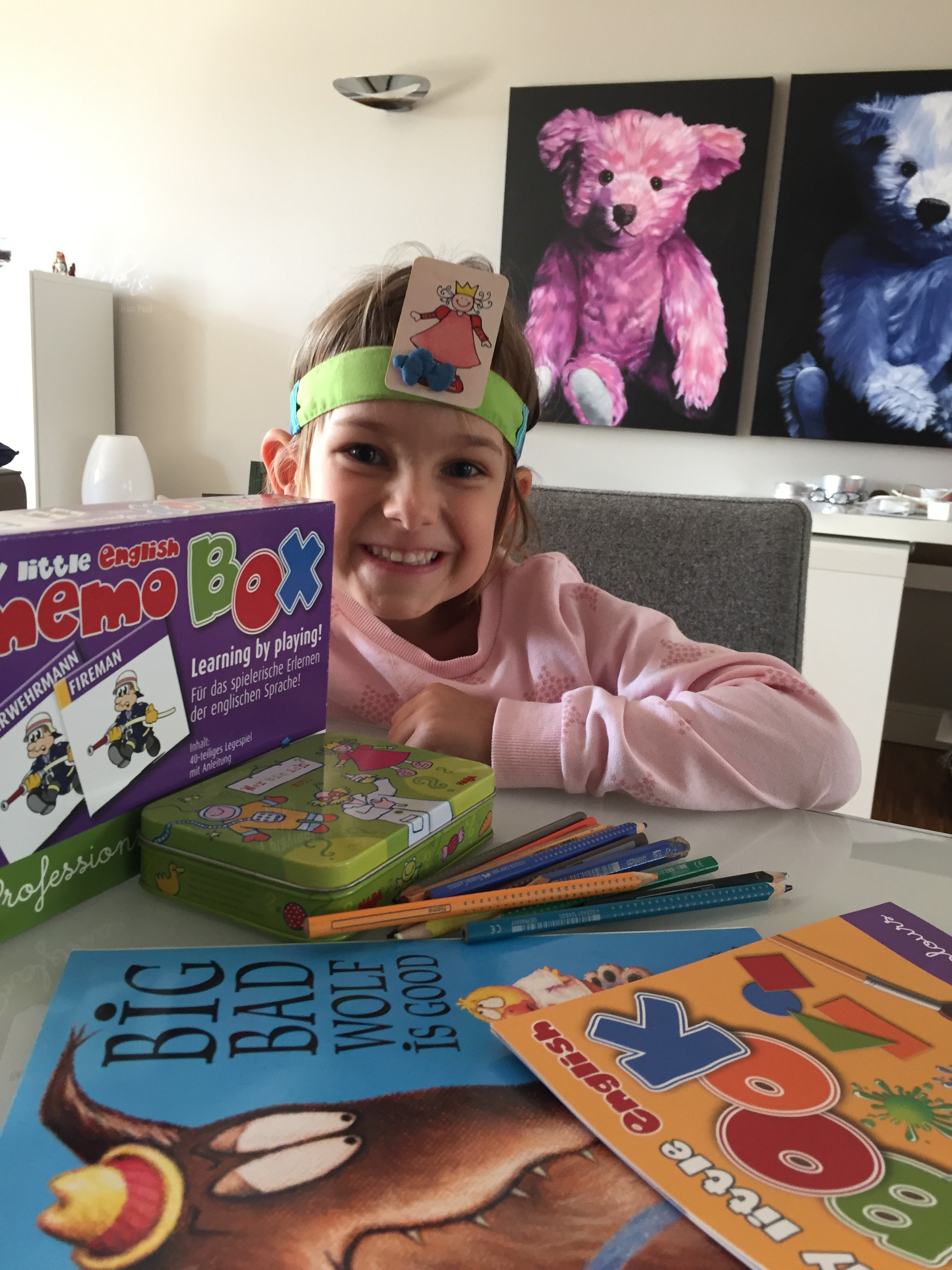 Geburtstagsgeschenke, easy learning, englisch für Kinder, Lernspiele