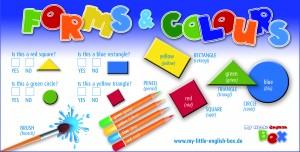 spielend Englisch lernen für Kinder , forms and colours