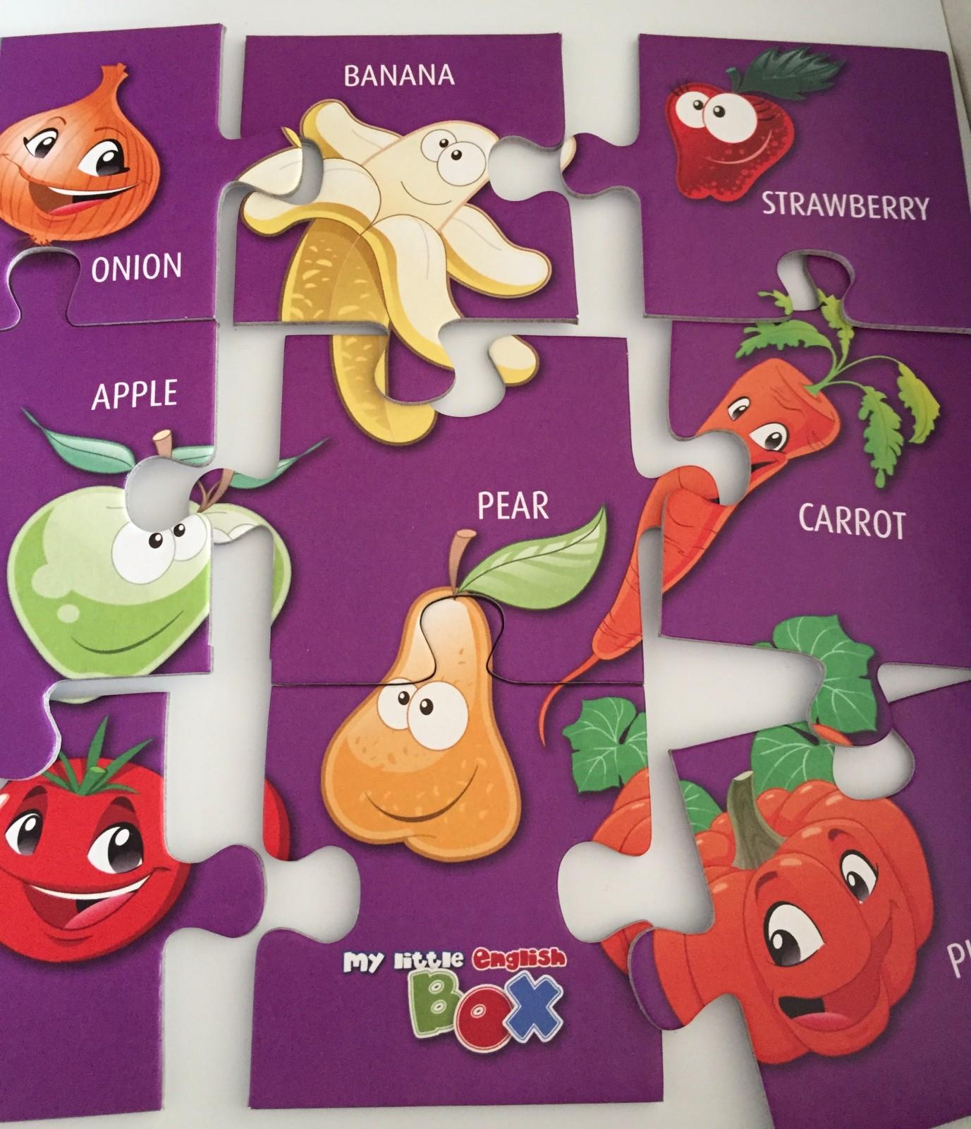 Super Spiele für junges Gemüse, spielend Englisch lernen für Kinder, Englisch für Kinder, my Little English Box