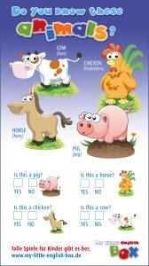 Englische Lernspiele für Kinder