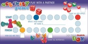 activity game, spielerisch Englisch lernen für Kinder, my little English Box